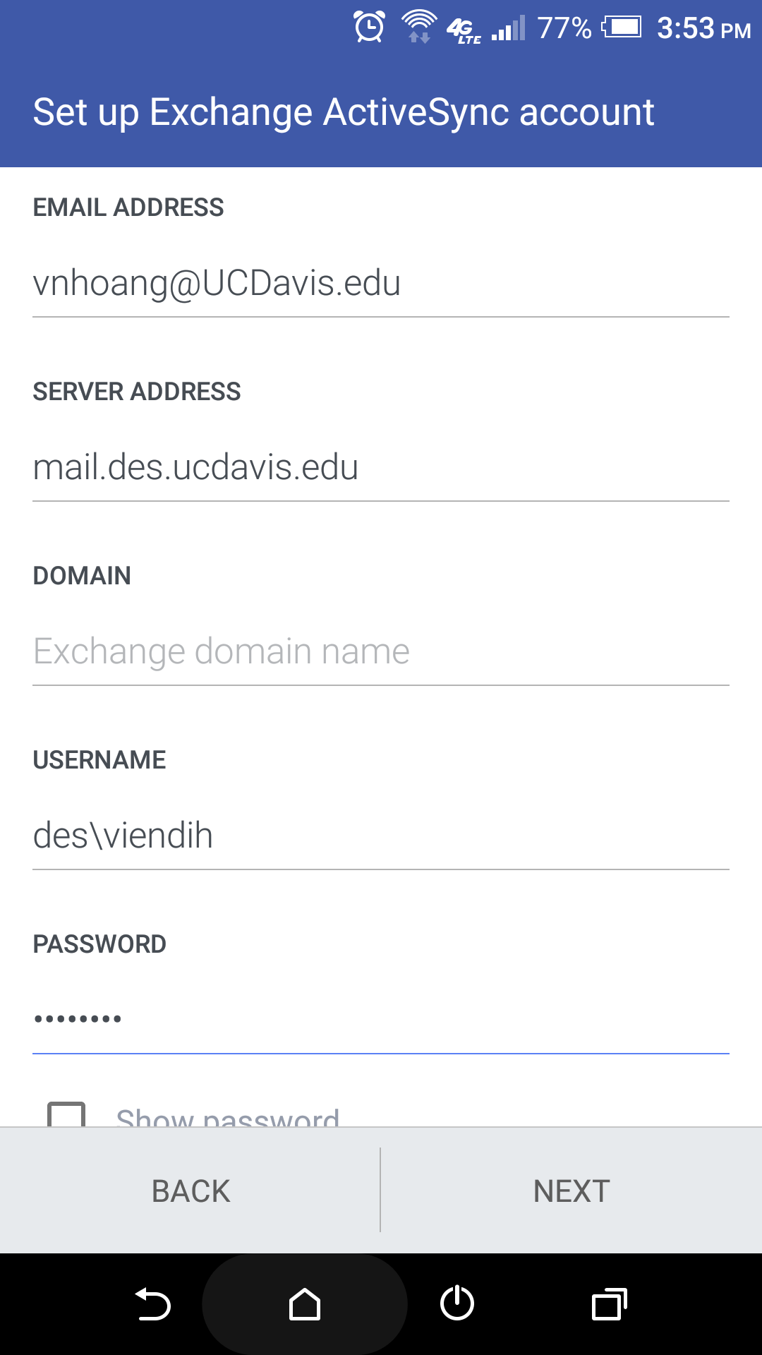 How do I set up DES email on Android? – Environmental